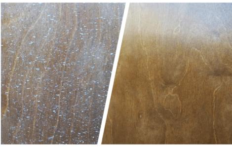 Καθαρισμός ξύλινης επιφάνειας